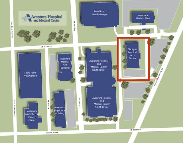 Aventura Campus Map